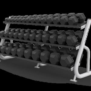 Matrix 3-tier flat tray dumbbell rack