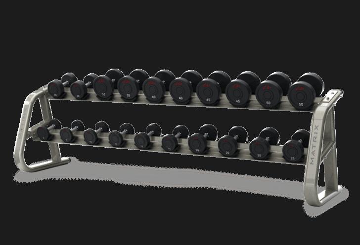 Matrix 10-pair Dumbbell Rack- Aura Series