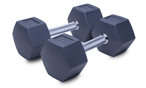 Ziva Rubber Hex dumbbells