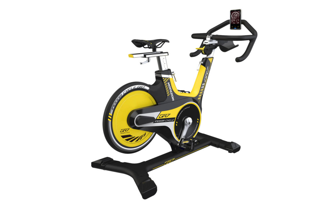 spinning bike with console